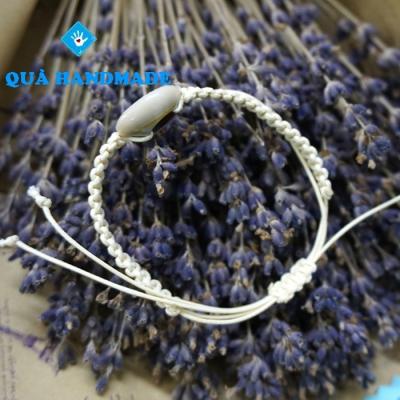 Vòng trắng đan 1 ốc